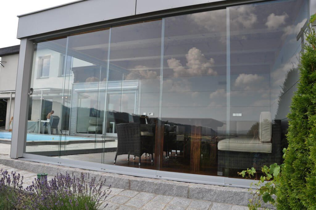 poolhaus glasschiebewand fa 1 4 r pool house vets