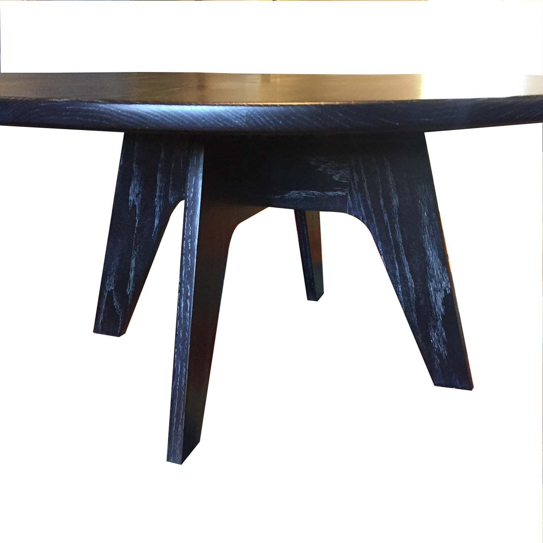 Best Vintage Mid Century Modern Cerused Black Oak Coffee Table 640 x 480