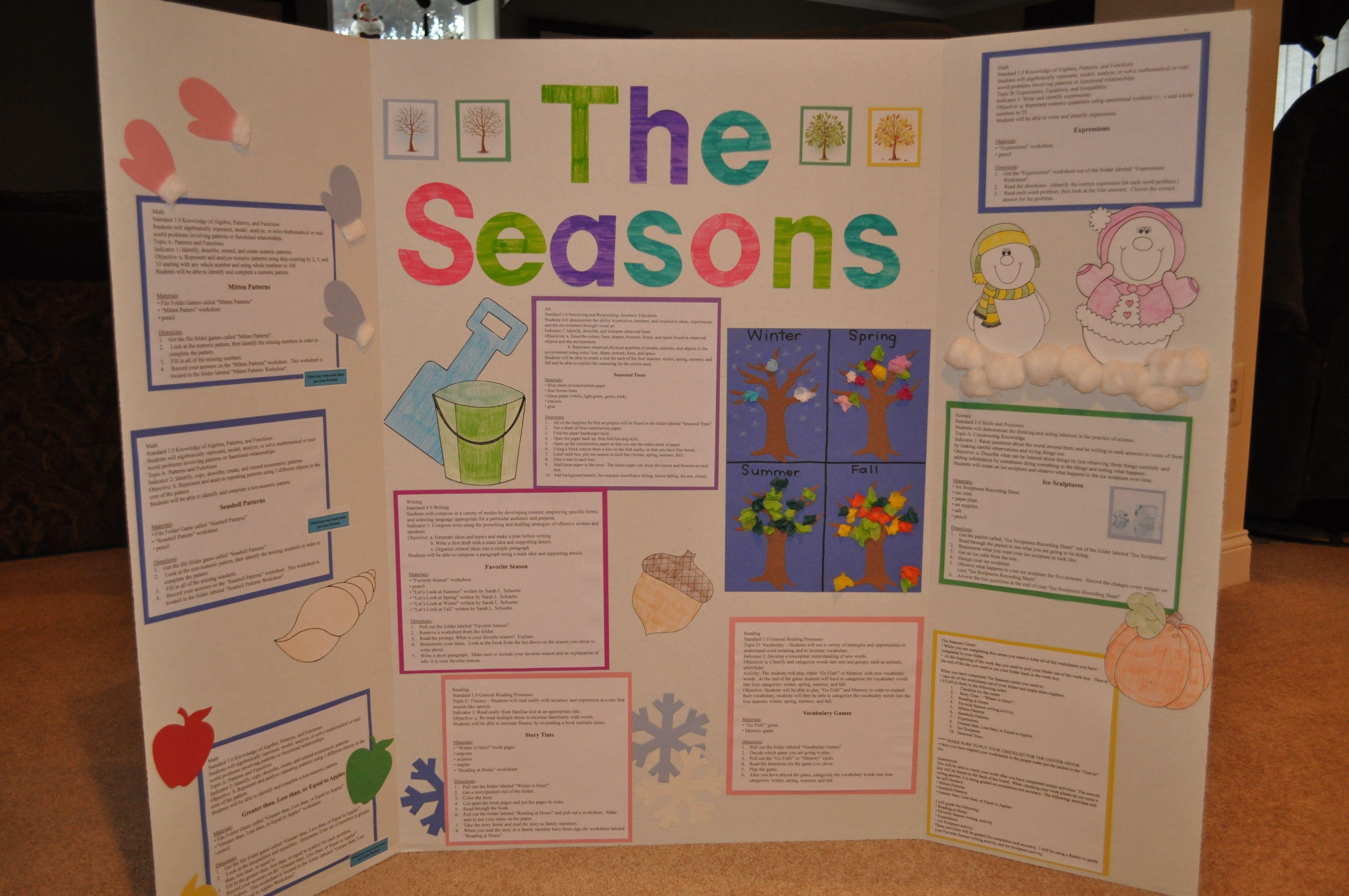 The Season S Literacy Center Math Activities Make Non Numeric Patterns Using A Seashell File Folder Game Mak Seasons Activities Science Themes School Themes