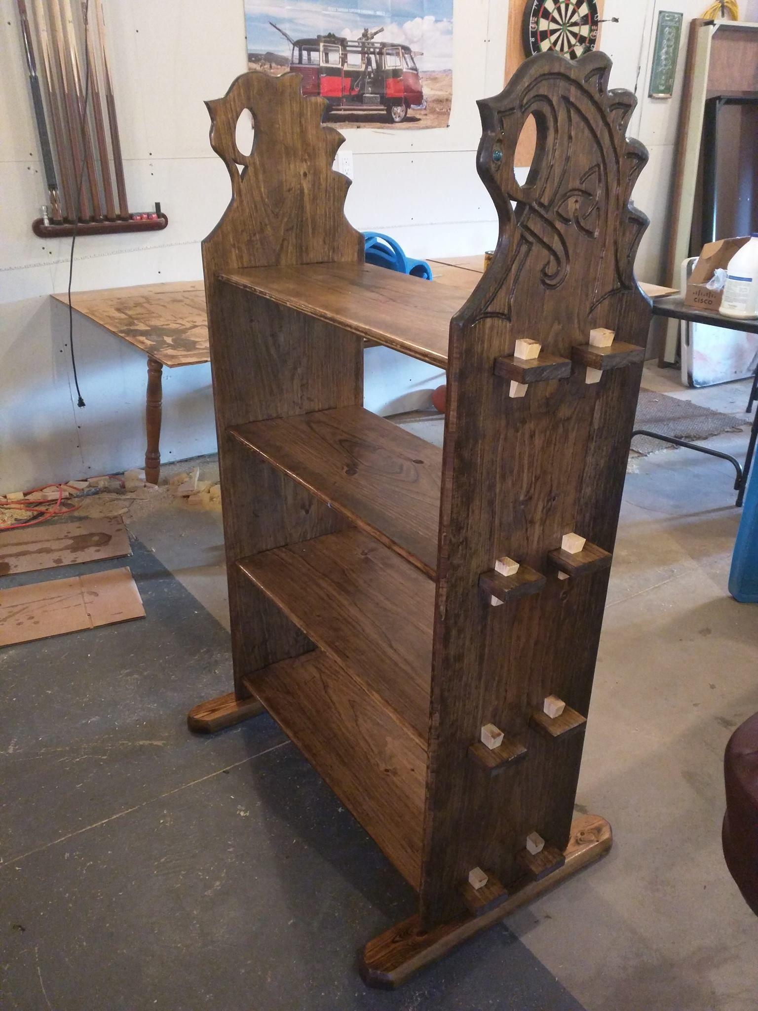Viking Shelves Medieval Furniture Wood Carving Furniture Viking Tent