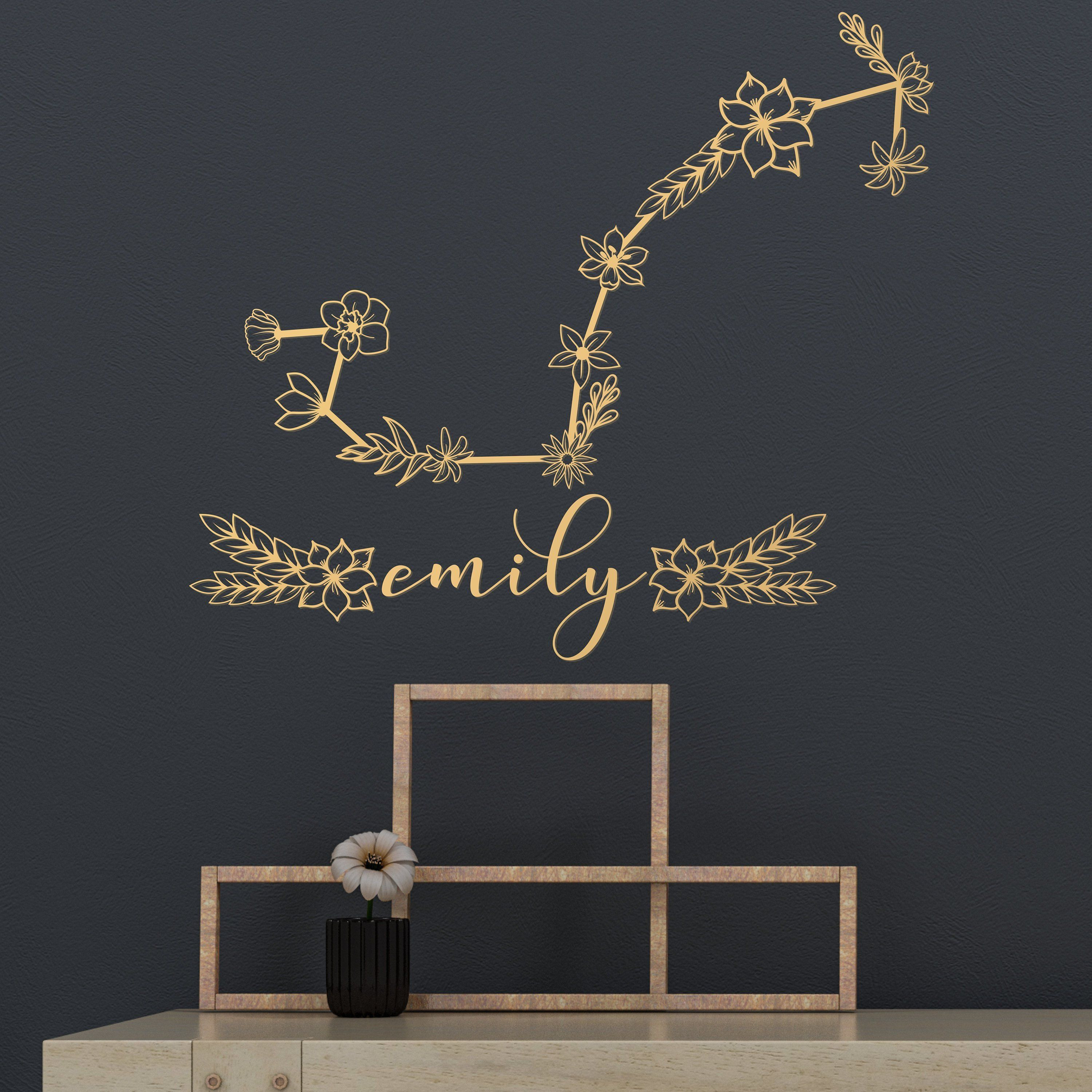 Scorpio Zodiac Constellation Decals Scorpio Zodiac Constellation Wall Sticker Astrological Sign Wall Art Sky Star Mural Constellation Decal Wall Signs Constellations
