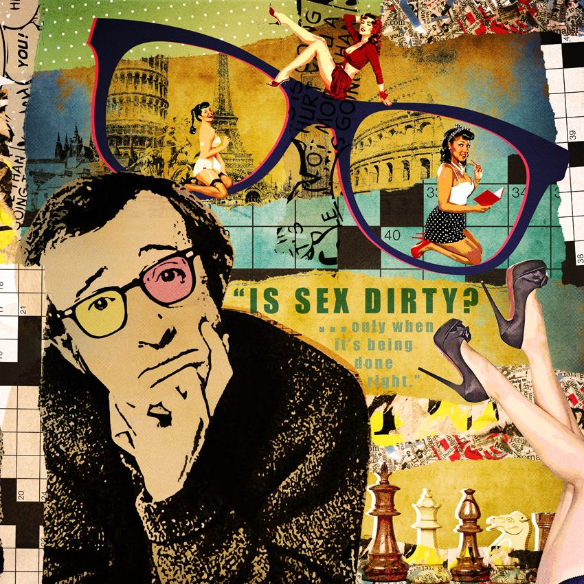 Woody Allen - Pop Art Collage | gergana rohner | Woody Allen, Arte ...