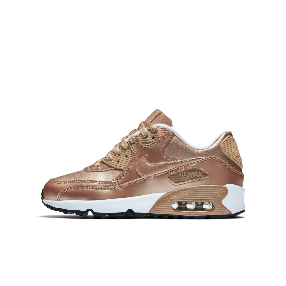 Nike Air Max 90 SE Leather Big Kids' Shoe Size 5.5Y (Brown