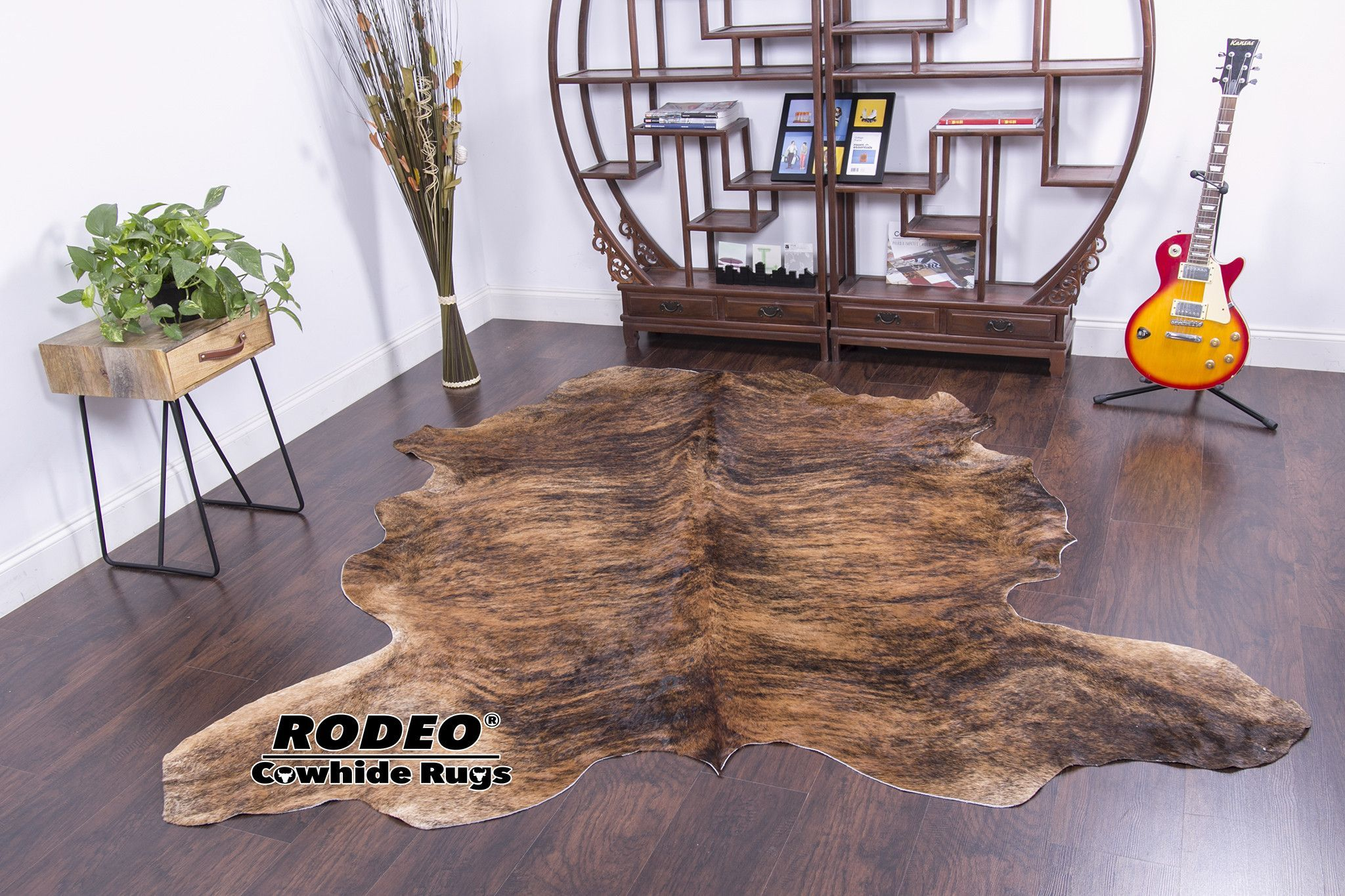 Exotic Dark Brindle Cowhide Rugs Area Cow Skin Hide 7 9x7 2ft