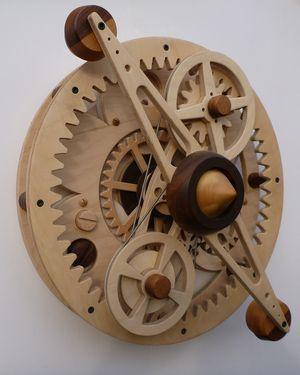 Time Machine #sculpture #wood #kinetic www.kineticbarn.com