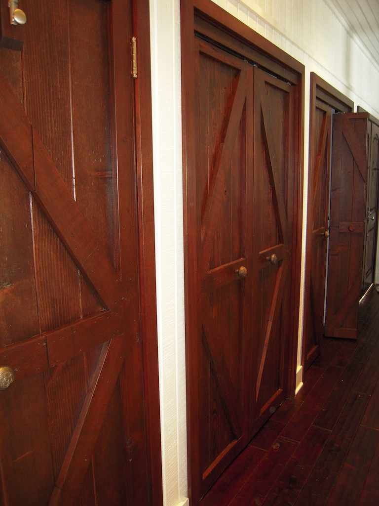 Custom Made Custom Reclaimed Wood BiFold Closet Doors For
