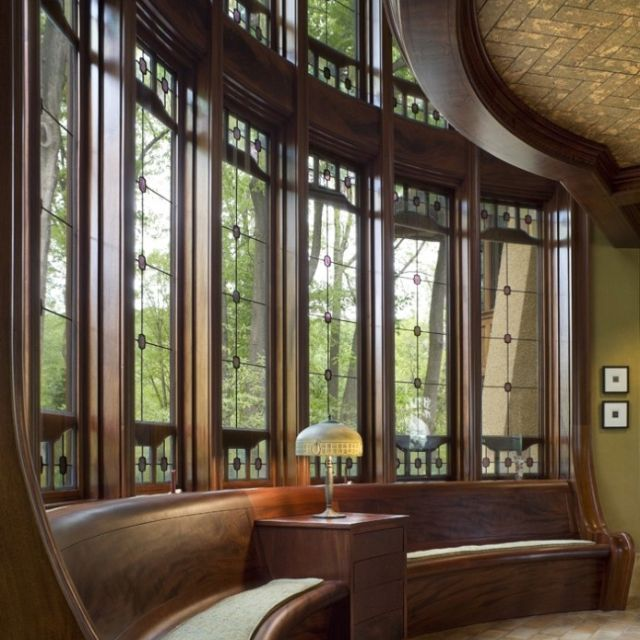 Craftsman Window Seat In 2019 House Design Stained