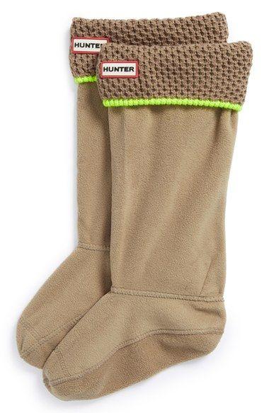 Hunter Neon Trim Welly Socks (Women) | Nordstrom