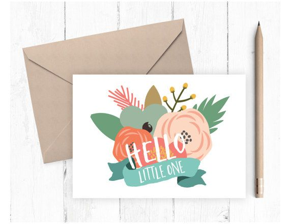 Printable New Baby Card Printable Baby Shower Card Printable