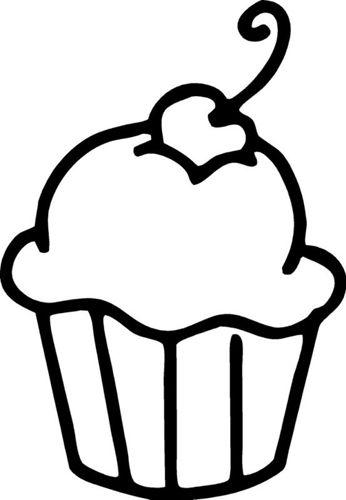 Cupcake Outline Clip Art 346px Boyama Sayfalari Boyama Kagidi Balerin Sanat