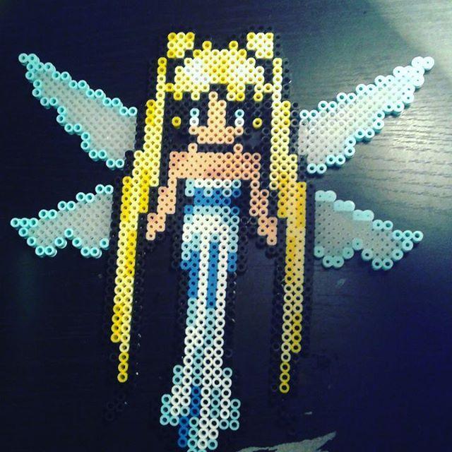 Princess Serenity perler beads by hanchancookiecakes