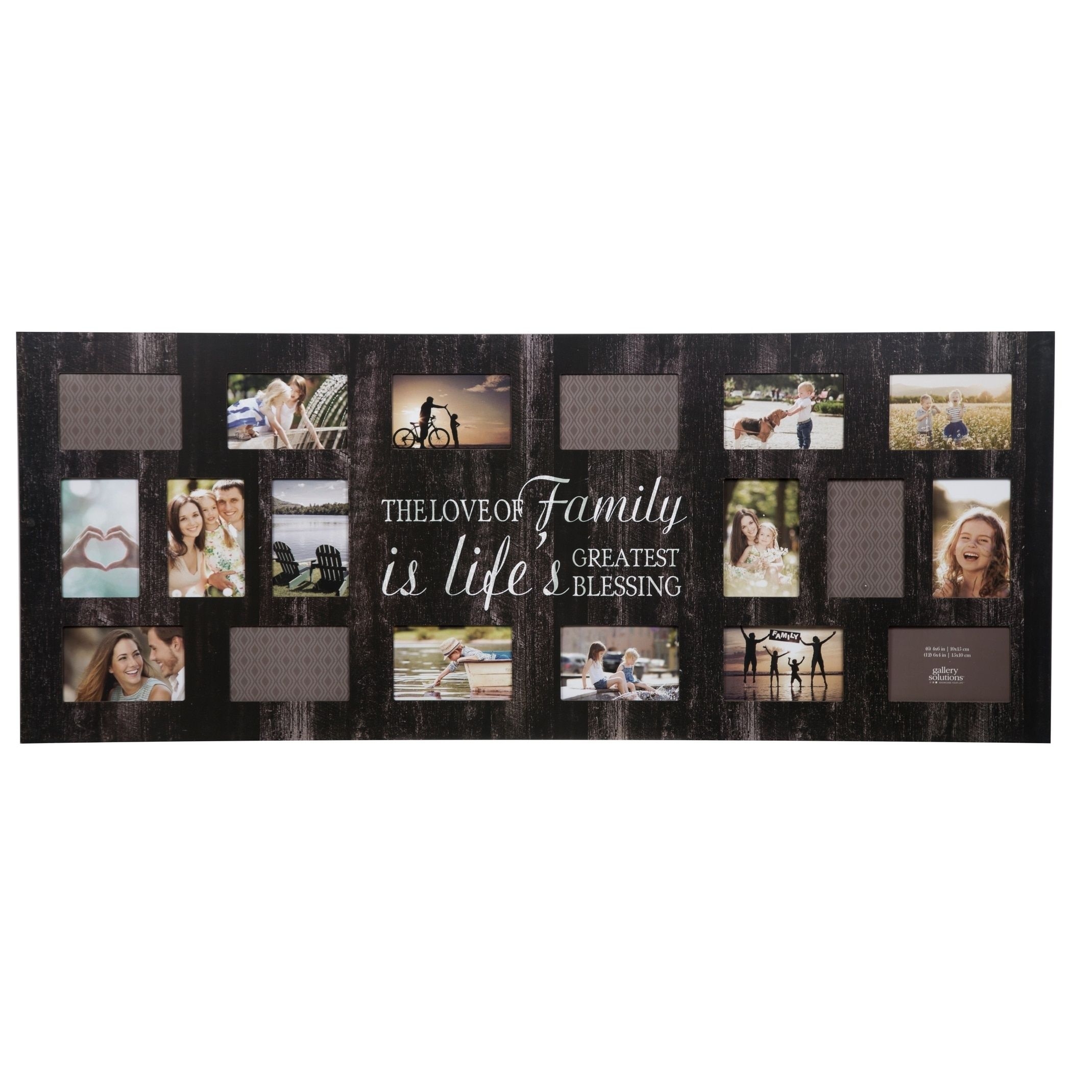 21 Opening Family Black Collage Picture Frame, Size 4X6 (Wood)