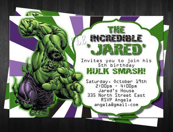 Resultado De Imagen Para Hulk Invitations Plantilla De