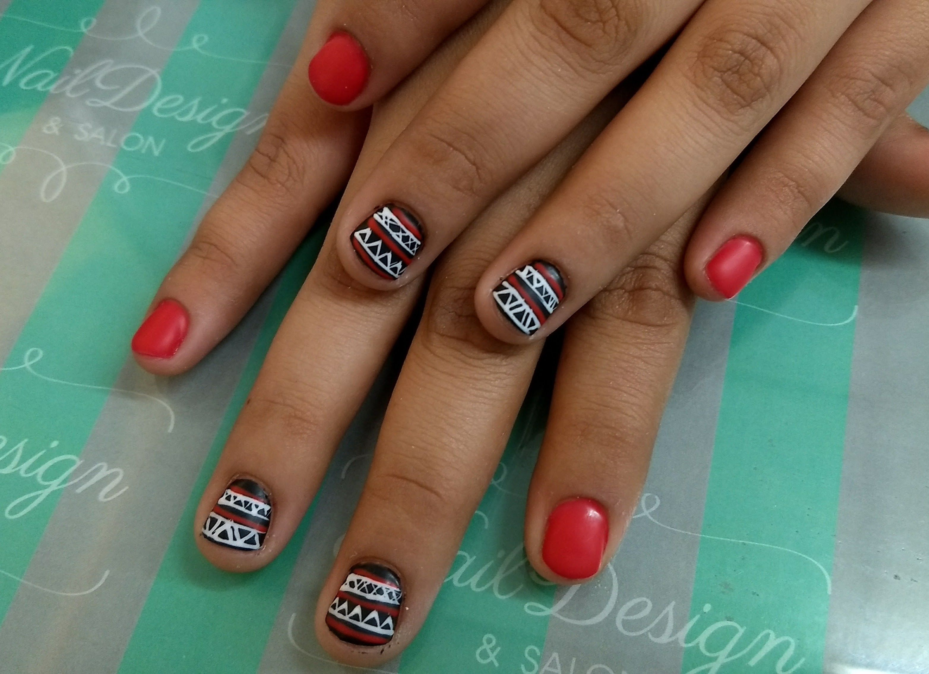 U as manos nail art estilo franc s manicure desde para hacer falses nails pedicure - Unas permanentes decoradas ...