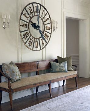 Love Big Clock Over Bench Entryway Wall Decor Dining