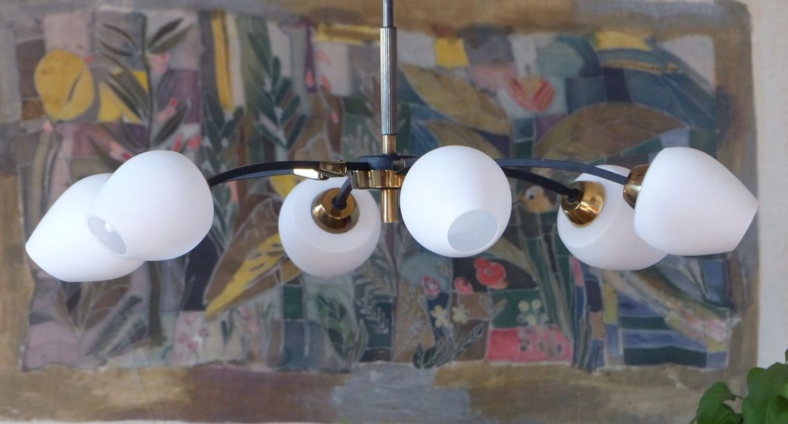 Mid century French chandelier