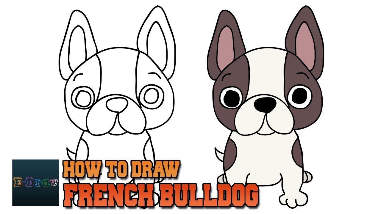 How To Draw French Bulldog Art Tutorial Easy Step By Step