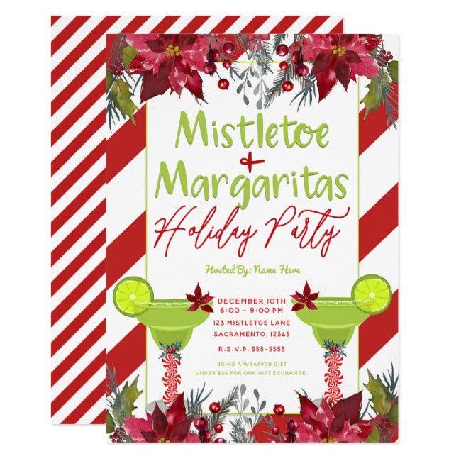 Mistletoe & Margaritas Holiday Party Fiesta Invitation | Zazzle.com