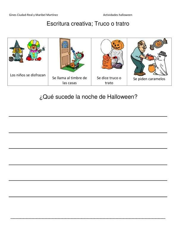 Escritura Creativa Tematica Halloween Orientacion Andujar Escritura Creativa Escritura Estrategias De Lectura