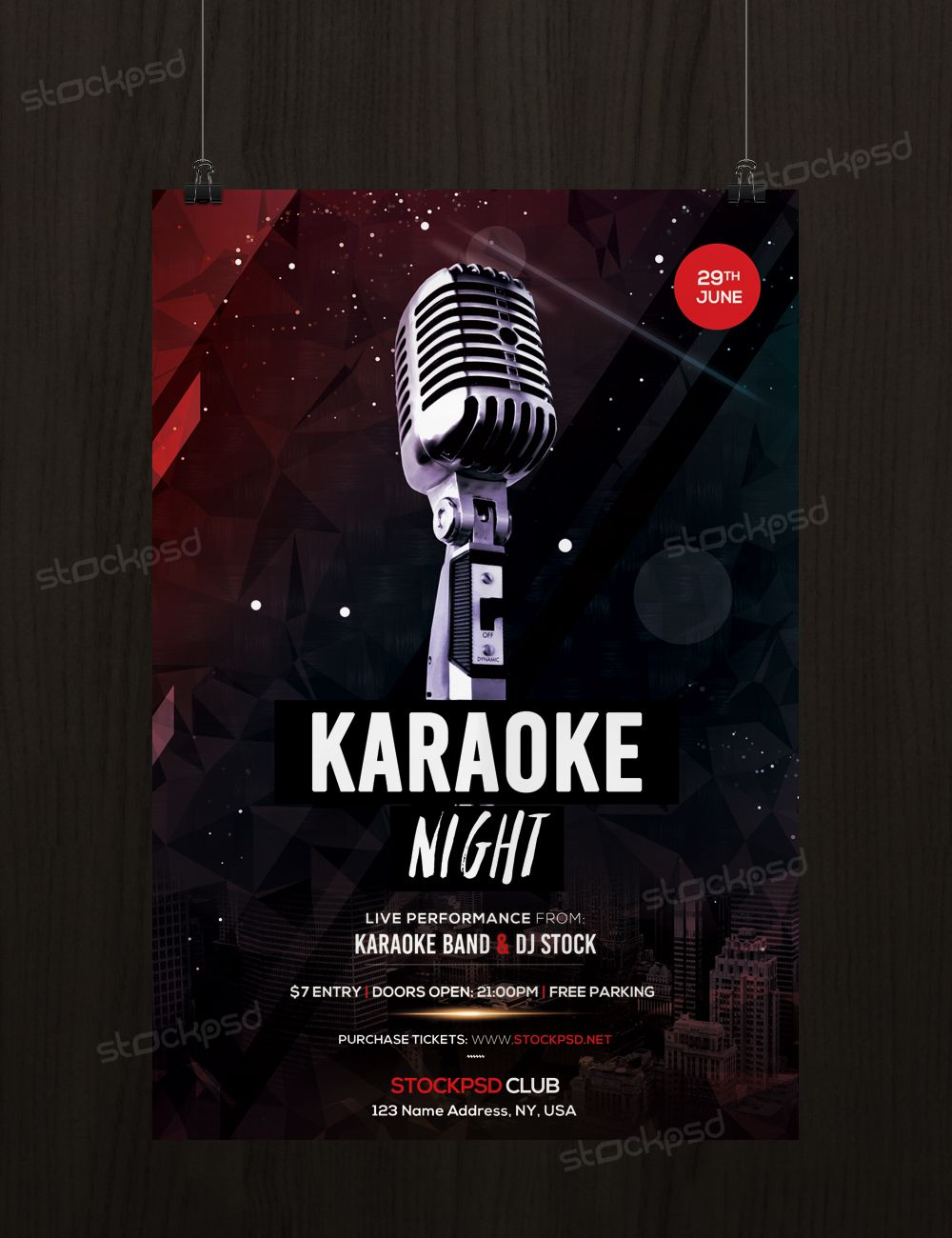 Karaoke Night  Free Psd Flyer Template  Dj Flyer