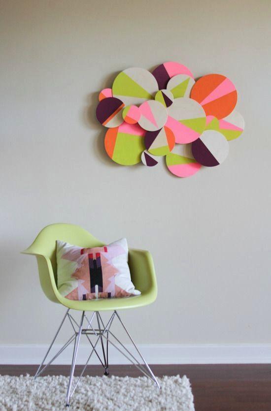 Bức tranh 3 chiều với các mảnh gián nghệ thuật với chất liệu rất rẻ