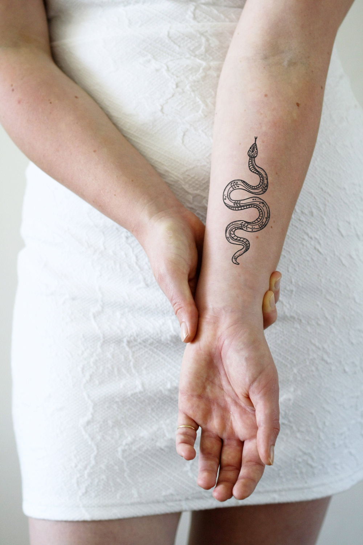 Bohemian snake temporary tattoo / snake tattoo / large snake | Etsy
