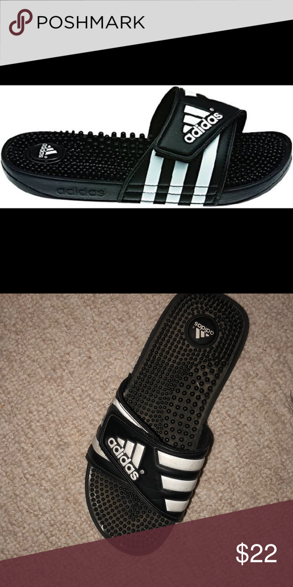 8bc660824c1 Adidas a adissage slides. Worn just need to be cleaned. (Will thoroughly  clean before shipping) in great condition! adidas Shoes Athletic Shoes. used .