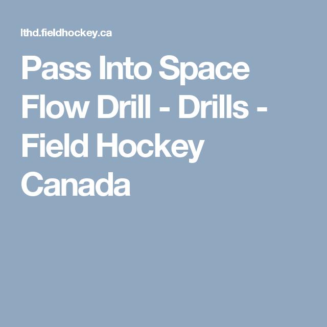 Pass Into Space Flow Drill Field Hockey Drill Hockey Training
