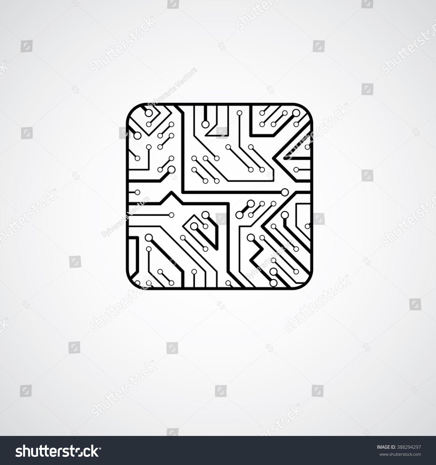 Vector microchip design, cpu. Information communication technology ...