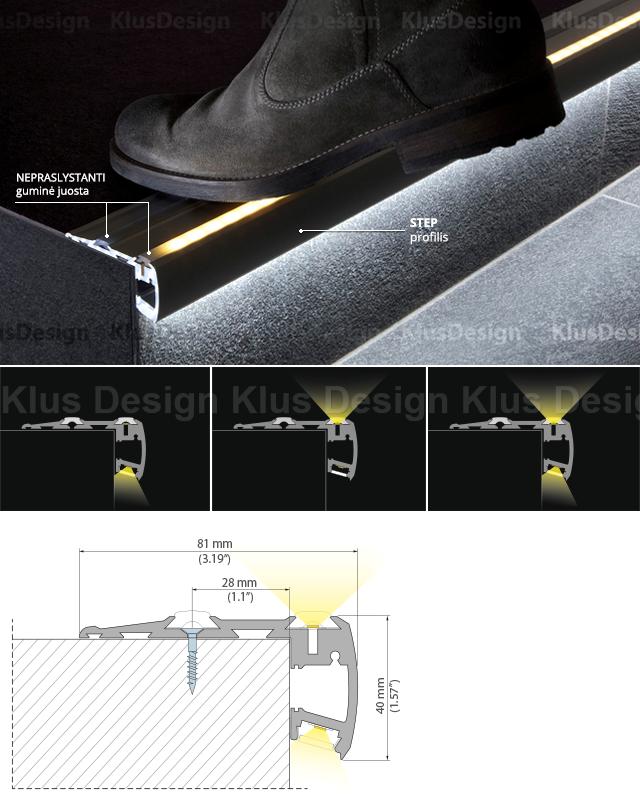 Laiptu Apsvietimas Step Profilis Diseno De Escalera Diseno De Iluminacion