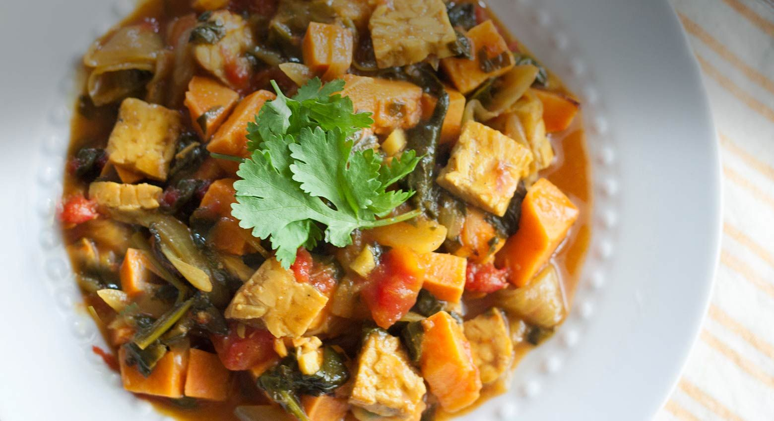 Our Indian inspired coconut curry tempeh will infuse its