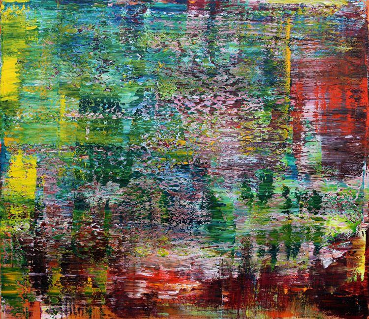 Koen Lybaert - Montana Rocky Mountains [Abstract N° 1515] - oil on canvas [130 x 150 x 5 cm] / 2016