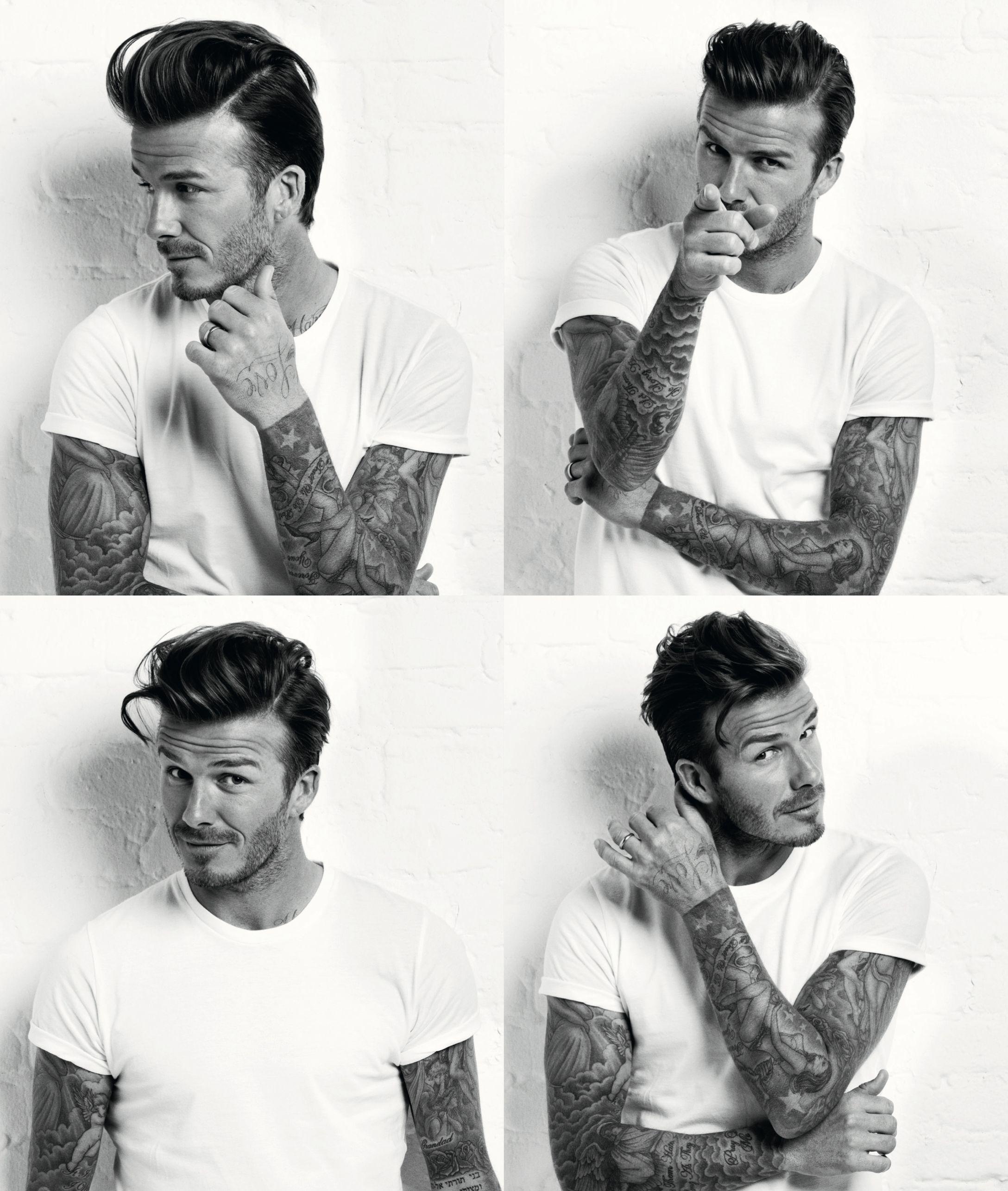 Derek jeter mens hairstyles colton haynes casual hairstyle - David Beckham Men S Health Tattoos And White T Shirt Oh Yeah