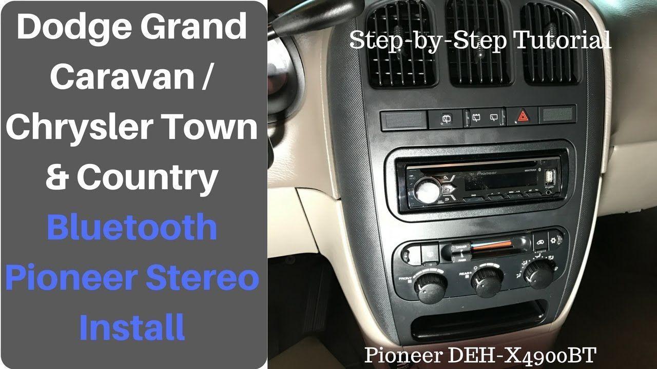 2001 2007 Dodge Chrysler Caravan Town Country Stereo Install
