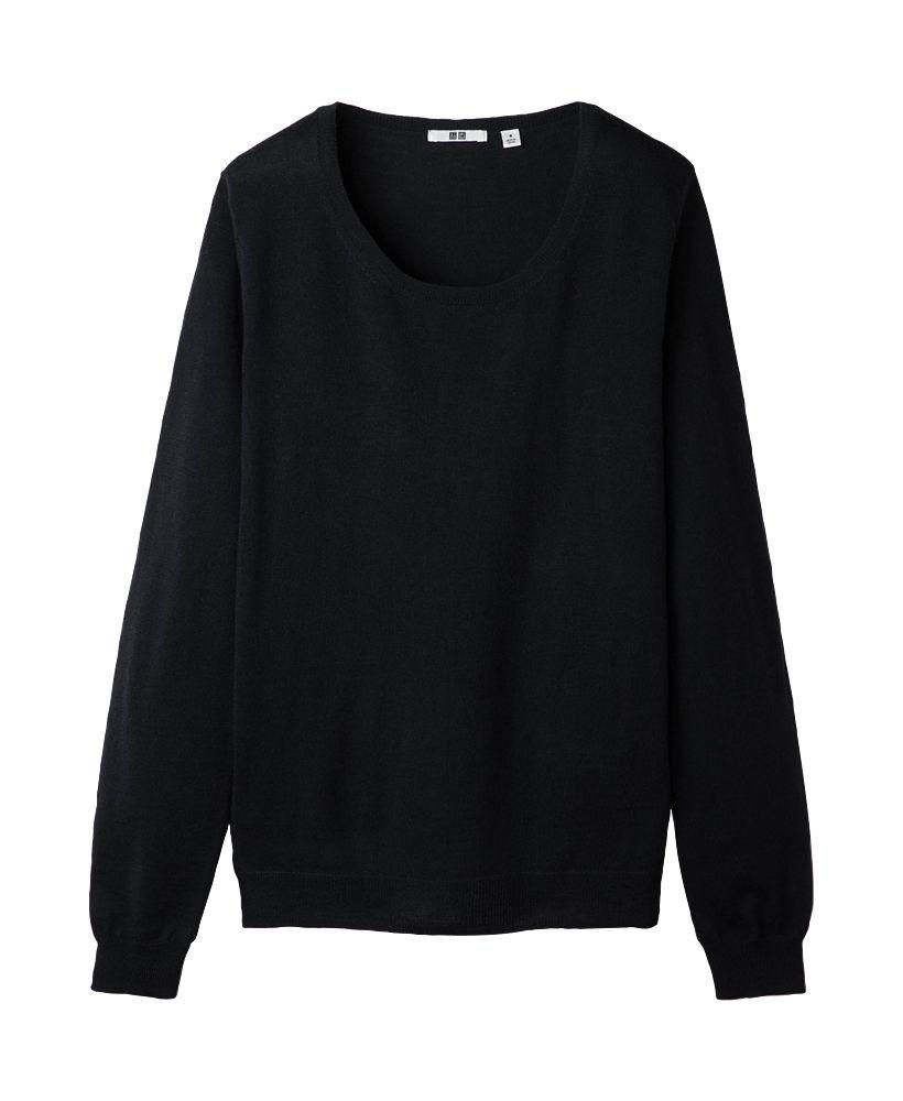 Uniqlo women efm round neck sweater favorite things