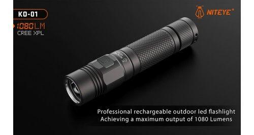 Niteye KO-01 1x 18650 1080 Lumens CREE XP-L LED Flashlight