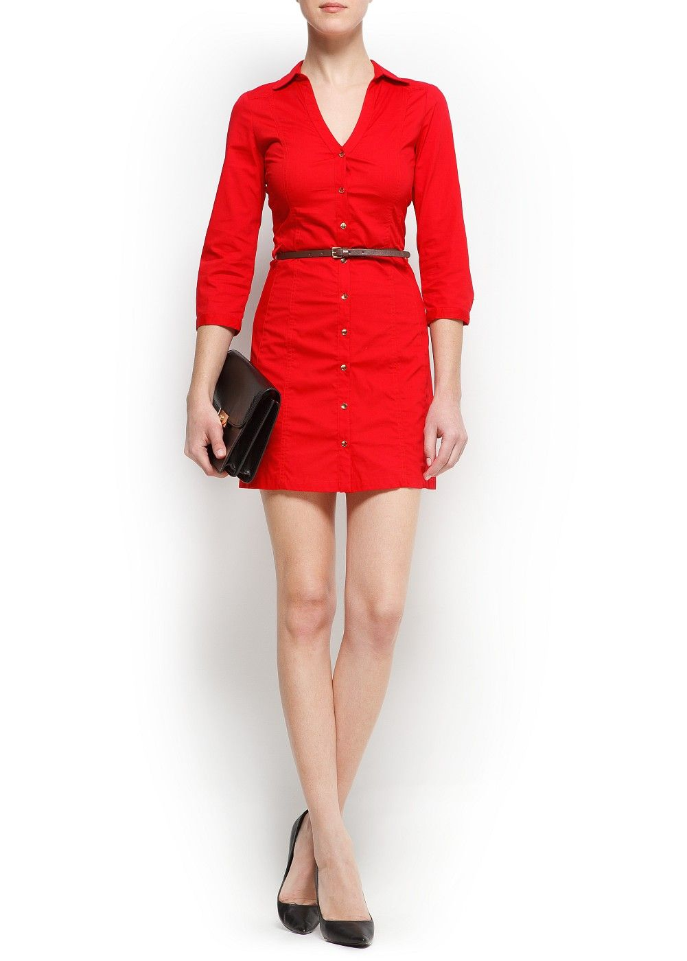 MANGO - PRENDAS - Vestidos - Vestido camisero