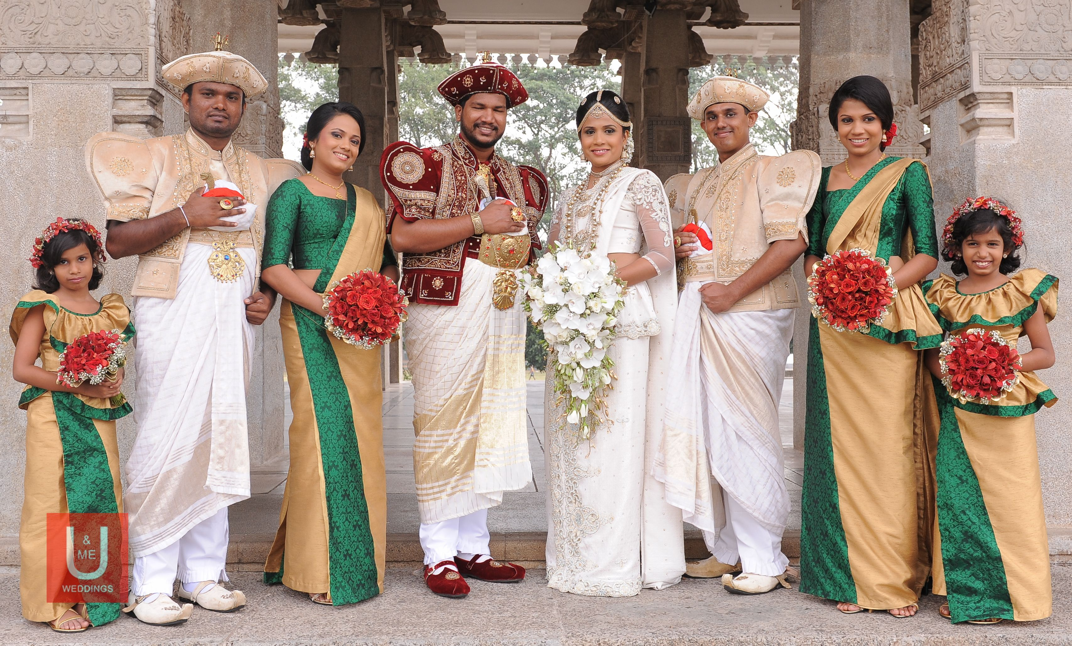 Sri Lankan Traditional Wedding Group Photo