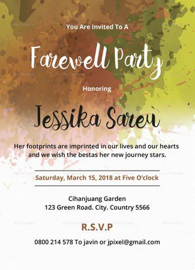 Farewell Party Invitation Design