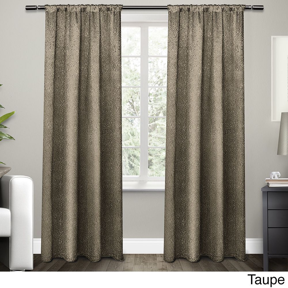 Ati Home Embossed Satin Curtain 84 96 Inch Length Panel Pair