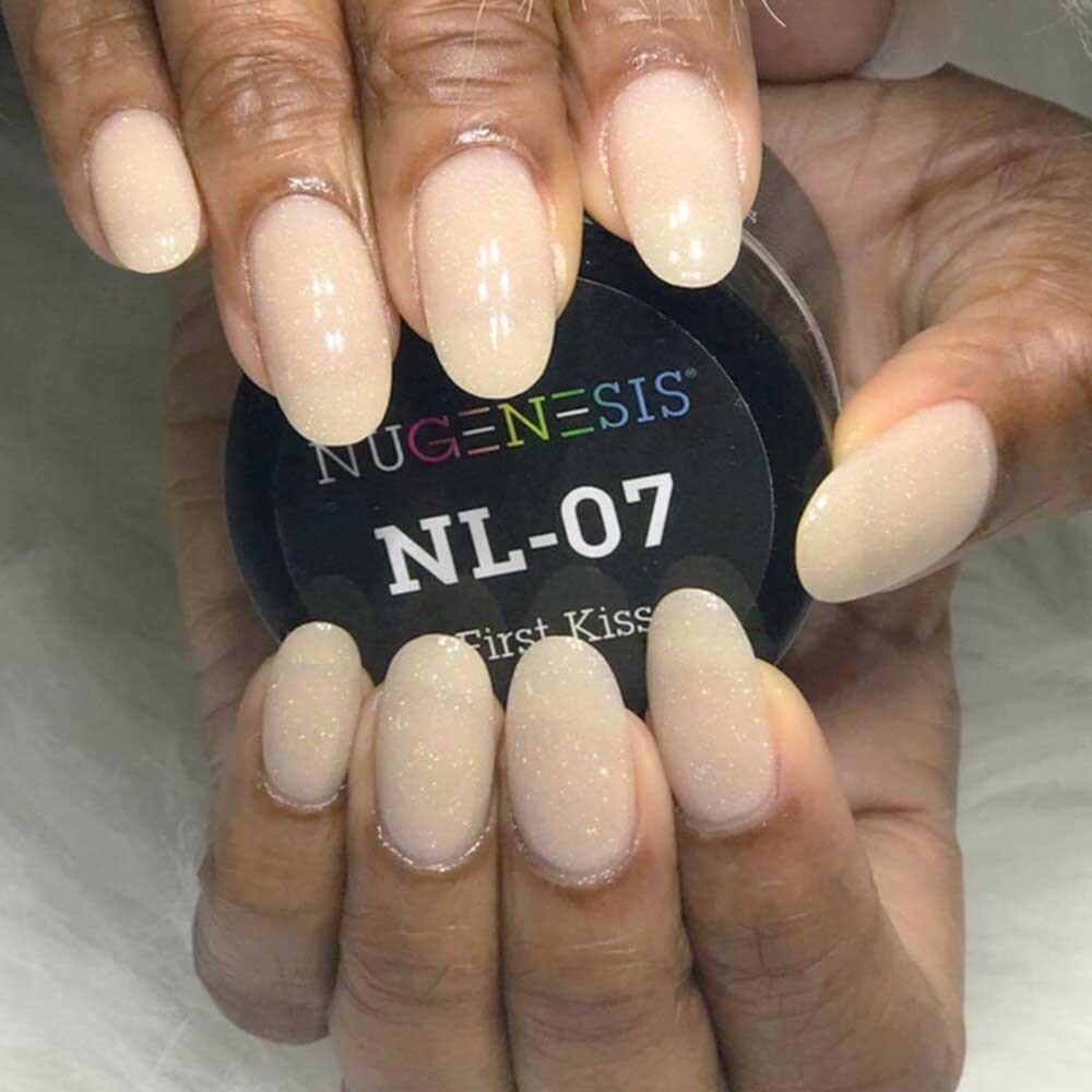 Nl 07 First Kiss Squoval Nails Dipped Nails Powder Nails
