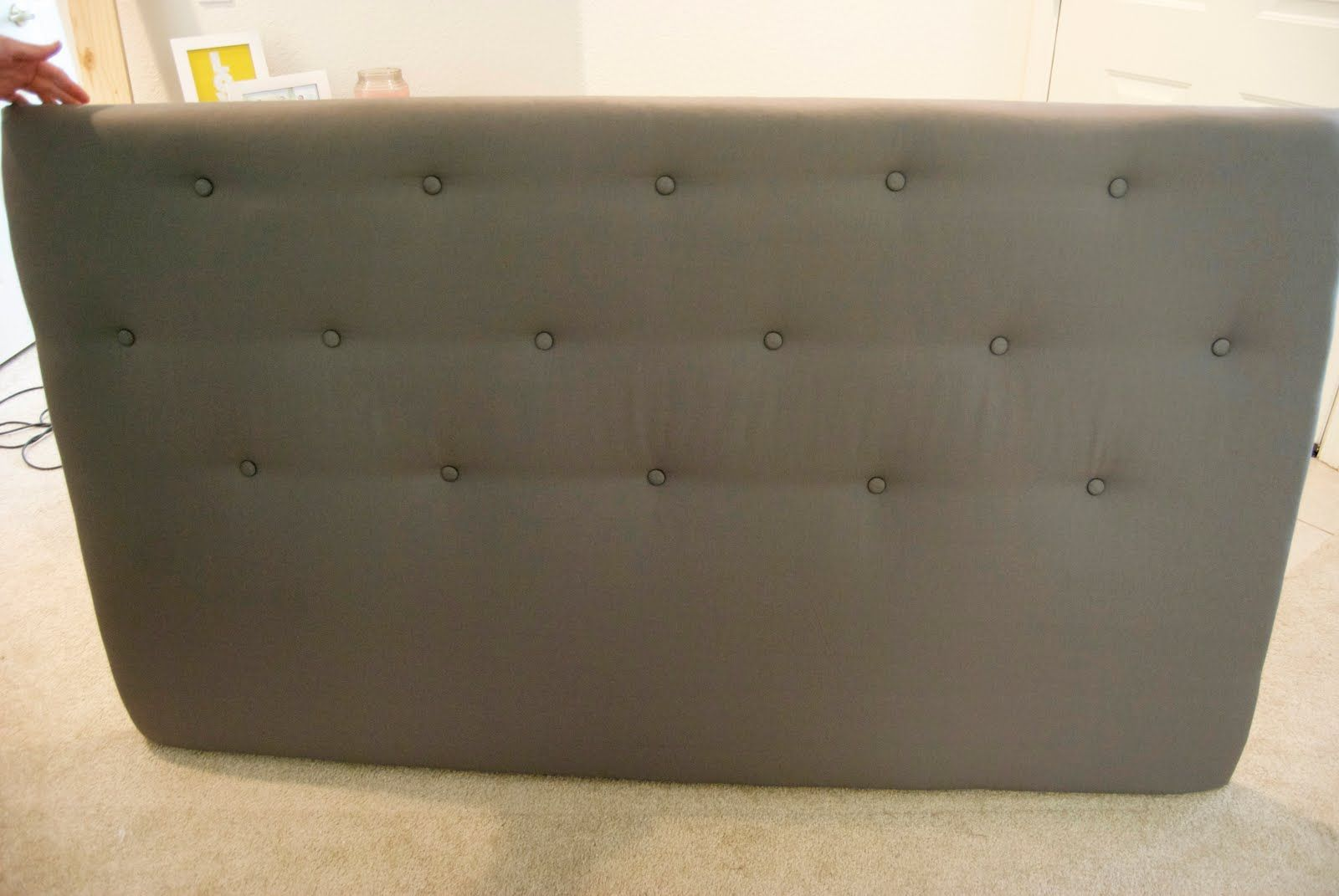A Little Lady: DIY: Upholstered Tufted Headboard (With ...