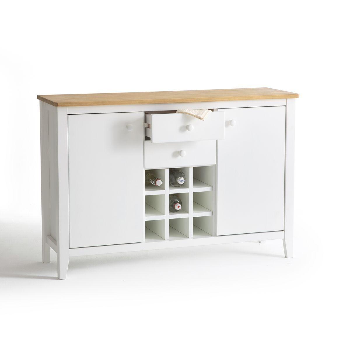 buffet de cuisine pin massif alvina blanc la redoute interieurs. Black Bedroom Furniture Sets. Home Design Ideas