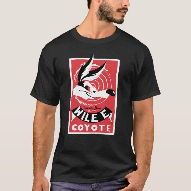 Wile Warner Bros. Presents poster T-Shirt | Zazzle.com