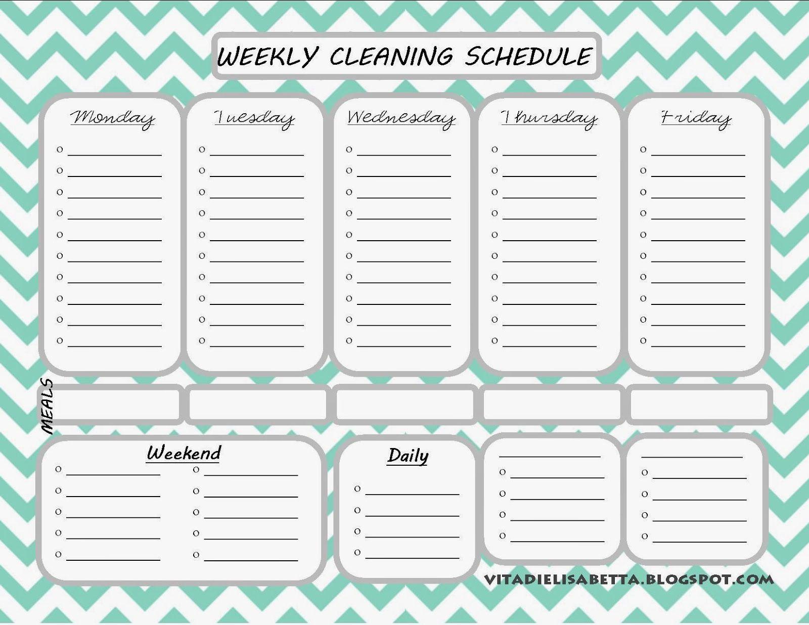 List Junkie Weekly Cleaning Schedule Free Printable Cleaning Schedule Printable Cleaning Schedule Templates Weekly Cleaning Schedule