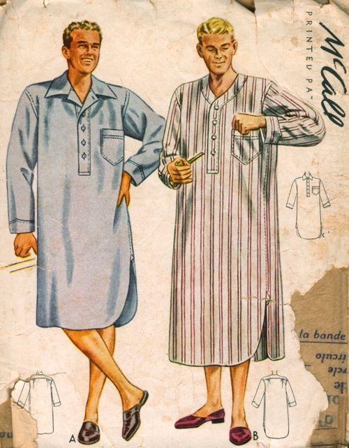 bd41aeea59 McCall 4473 Men s Nightshirt 1941