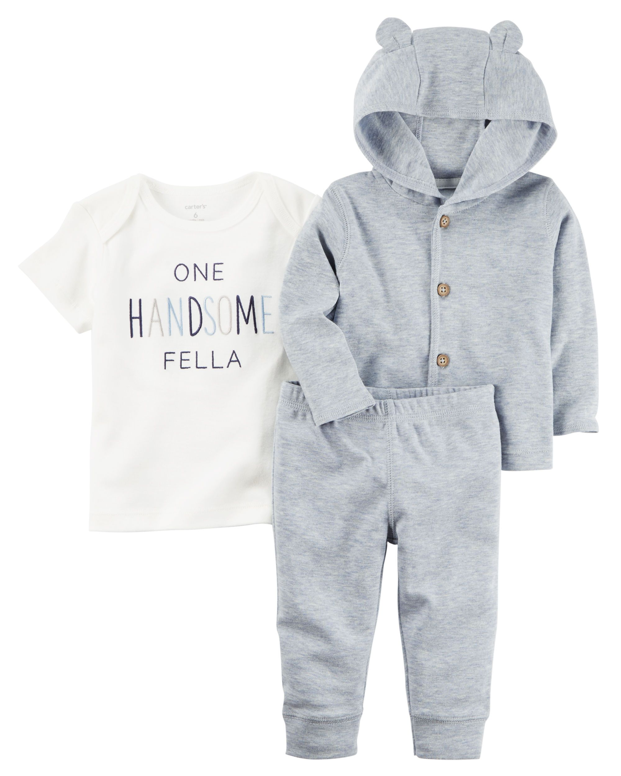 577eb62f5 Baby Boy 3-Piece Heathered Little Jacket Set from Carters.com. Shop  clothing & accessories from a trusted name in kids, toddlers, and baby  clothes.
