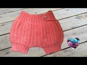 Sarouel bébé: tutoriel au crochet, gratuit présenté par Lidia Crochet Tricot