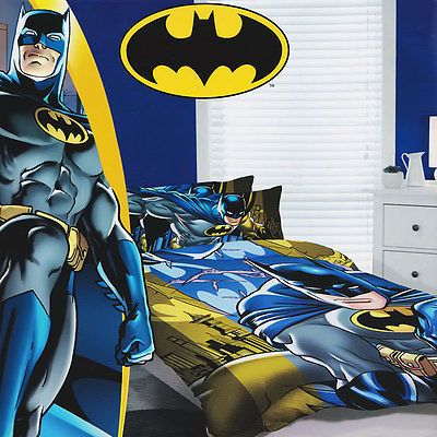 Batman Quilt Doona Duvet Cover Set Boys Bedding Kids Dark Knight - Batman dark knight bedding