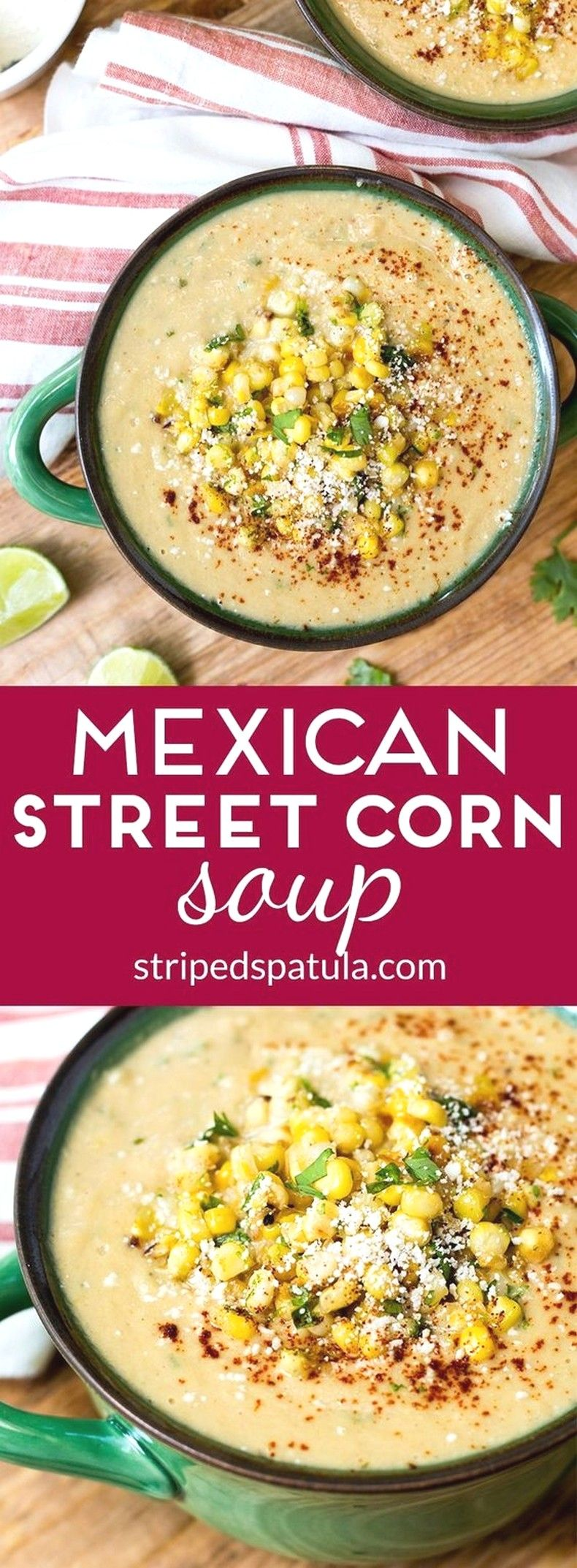 Mexican Street Corn Soup | Easy Soup Recipes Ideas images